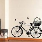 Wall Decal Bicycle With Fl..