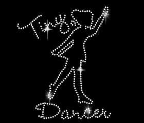 Rhinestone Transfer Tiny Dancer Iron On Bling 34108